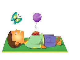 dibujo de la respiración relajada o abdominal