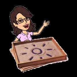 Imagen del avatar de Cecilia con una bandeja de arena.