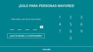 fotografía de la pantalla donde se solicita ingresar la contraseña para acceder a la zona de control parental
