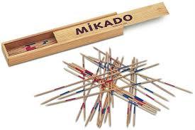 fotografía de un juego de Mikado