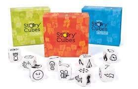 Fotografía de los distintos juegos de Story Cubes