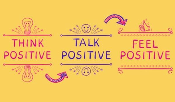 imagen sobre pensar, hablar y sentir en positivo